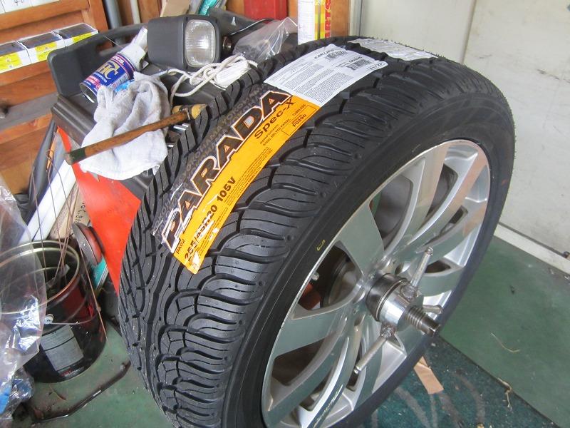 タイヤ交換ですね